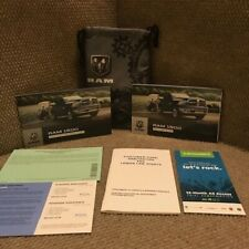 2019 Dodge Ram 1500 2500 3500 Owners Manual with warranty books and case