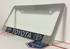Chrome Carbon Fiber TOYOTA Personalized Custom  License Plate Frame tag holder