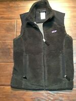 Patagonia Classic Retro  Vest Womens Size SMALL S  BROWN Sherpa Fleece Full Zip