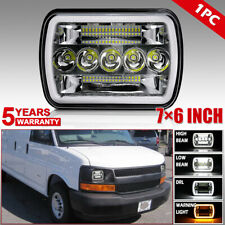 "7X6"" 5X7"" LED Headlight with Dual Color DRL for Chevy Astro Cargo Van 1985-2005"