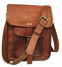 New IPad Shoulder Bag Stunning Quality Genuine Vintage Leather Satchel Messenger