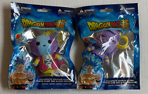 Dragonball Z Super Backpack Hanger Plush Lot Of 2 Zeno & Beerus
