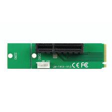 PCI-E 4X Weiblich to NGFF M.2 M Männlich Adapter Key Power Cable Konverter Karte