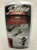 """Rage Hypodermic Trypan Titanium Broadhead 100 Grain 2"""" Cut 3 Pack R35100"""