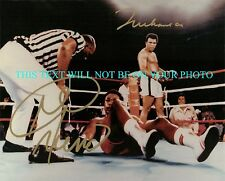 MUHAMMAD ALI AND GEORGE FOREMAN AUTOGRAPHED 8x10 RP PHOTO AWESOME KNOCKOUT