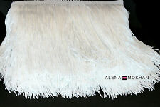 "1 yard 6"" White Chainette Fringe Dance Costume Lamp Trim"