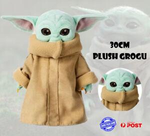 30cm Star Wars Master Baby Yoda Grogu Plush Toy Mandalorian Force Stuffed Doll