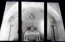 PLAQUE VERRE PHOTO NEGATIF circa.1910 AUTEL D UNE CHAPELLE MEUSE chapel (B22)