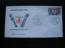 COTE D IVOIRE - enveloppe 1er jour 9/11/1968 (cy75)
