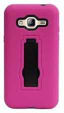 Hybrid Hard Rugged Kickstand Case Skin Cover For Samsung Galaxy J3 / AMP Prime