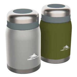 High Sierra, 2-pack -Insulated S Steel Food Jars w Folding Spork - Hot / Cold