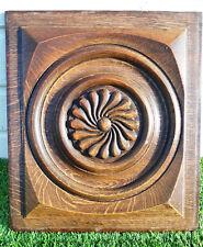 panneau ancien boiserie bois sculpté art neo breton pour déco 38/43 cm  (381)
