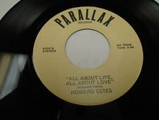 "Howard Estes All About Life / Blame Billy 7"" 45 rpm Parallax VG+"