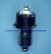 Bright Silvered Positive Earth LED 1N6V  bulb UPGRADE for 4-cell 6 Volt Lantern