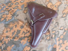 WH p08 Holster Hard Shell Pistol étui Leather Wehrmacht wwii wk2 LW