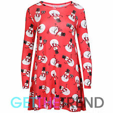 Womens Matching Dress or Leggings Outfit Set Xmas Day Party Novelty Swing Skater