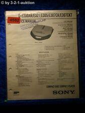 Sony Service Manual D E300AN /E301 /E305 /E307CK /E307CKT CD Player (#4581)