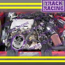 1994 1995/94 95 PONTIAC GRAND PRIX 3.1L V6 AIR INTAKE KIT+CHF Black Red