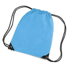 Surf Blue Drawstring/Tote/Backpack/PE/Gym/Swim/School Bag