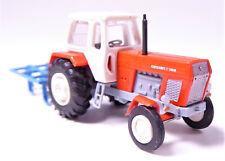 TT BUSCH Traktor Fortschritt ZT 300 D rot + Schwergrubber Grubber blau # 8712
