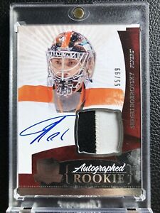 2010-11 UD Upper Deck The Cup Sergei Bobrovsky Rookie Auto Patch RC 55/99