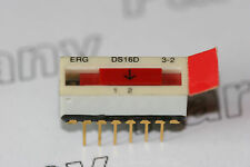 5x DS16D3-2 ERG Components DIP Switch 3 Pole 2 Way with Hinged Cover