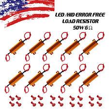10pcs 6ohm 50W Load Resistors Fix LED Bulb Fast Hyper Flash Turn Signal Blinker