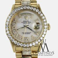 Presidential Rolex 18038 18k Yellow Gold White Roman Numeral Diamond Watch