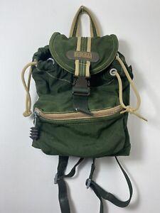 Hedgren Outdoor Gear Forest Green Nylon Mini Backpack Travel Rare Vintage