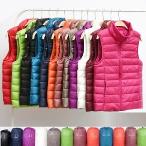Lightweight Padded Gilet Jacket Women's Vest For Casual Running Sports