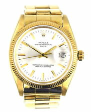 VINTAGE ROLEX OYSTER PERPETUAL DATE WATCH 14K GOLD 1503 OYSTER STRETCH BRACELET