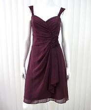 DAVID'S BRIDAL SLEEVELESS DRESS SIZE 2 ROSEWOOD