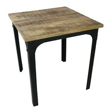More details for rustic vintage industrial style dining table, distressed wood metal, restaurant