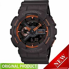 GA110TS-1A4 CASIO G-Shock Men's Watch Dark Grey/Neon Orange Fast Ship