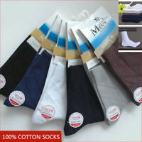 KEN 6 Pairs 100% Cotton Mens Summer Crew Socks Business Casual Absorb Sweat