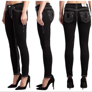 True Religion Jennie Big T Mid Rise Curvy Skinny Fit Jeans Size 25 MSRP: $169.00