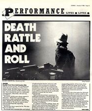 2/1/88pg31 Live Review & Picture, Suicide, Kentish Town