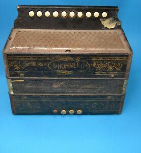 Antique vintage Hohner Accordion  Germany 10 button  Makes sounds