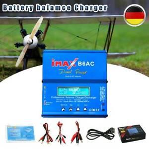 80 Watt IMax B6 AC Netzteil Ladegerät Batterie Balance Charger LiPo Dual Power
