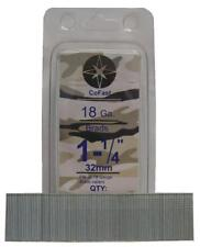 CoFast 18 Ga 1-1/4 inch Straight Finish Brad Air Nails fit Most 18 Ga Nailers 2M