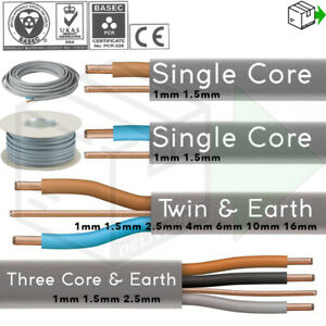 Twin and Earth & 3 Core and Earth Quality Electrical Cable Wire 6243 6242Y