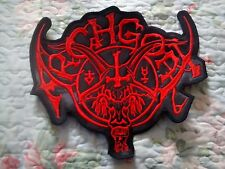 ARCHGOAT,SEW ON RED EMBROIDERED LARGE BACK PATCH