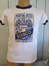 Vtg MARTINI ROSSI Bianco Vermouth Promo Ringer Tee Shirt M NOS Thin Soft NEW