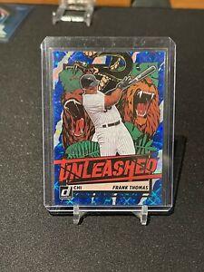 2021 Donruss Baseball Frank Thomas Unleashed Blue Prizm #008/249 Card # UNL26