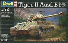 REVELL 1:72  KIT  CARRO ARMATO TIGER II AUSF. B PORSCHE PROTOTYPE TURRET   03138