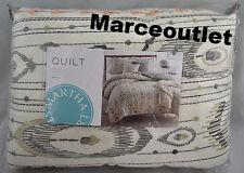Martha Stewart Collection Freebird FULL / QUEEN Cotton Quilt Light beige