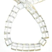 """G1353 Crystal Quartz 6mm Square Cube Reconstituted Gemstone Glass Beads 16"""""""