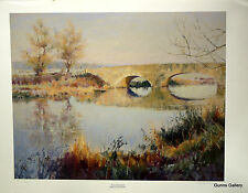 Autumn Riverbank Sheila Goodman Signed Limited Edition Print Landscape