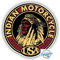 """INDIAN MOTORCYCLE ROUND  6"""" DECAL STICKER AMERICANA RRP £12 FREE DELIVERY"""