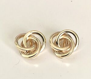 9ct Yellow Gold  Clip on Knot Earrings